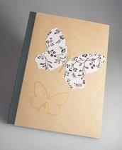QUADERNO applicazioni raffinata carta di riso - illustrazione farfalla