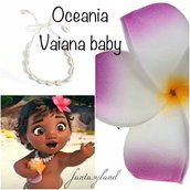Collana conchiglie oceania fiore fermacapelli cosplay Vaiana moana