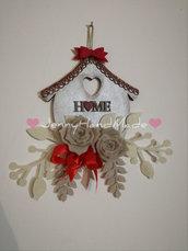 Targa in legno home decorata