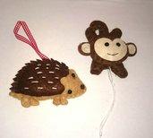 Scimmia-riccio in feltro