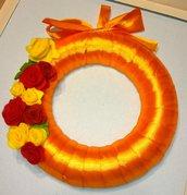 Fuoriporta- corona in feltro