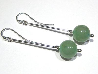 orecchini avventurina verde