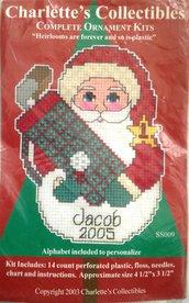 Decorazione Babbo Natale Golf - Kit Punto Croce