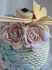 profumatore diffusore con rose in gomma crepla