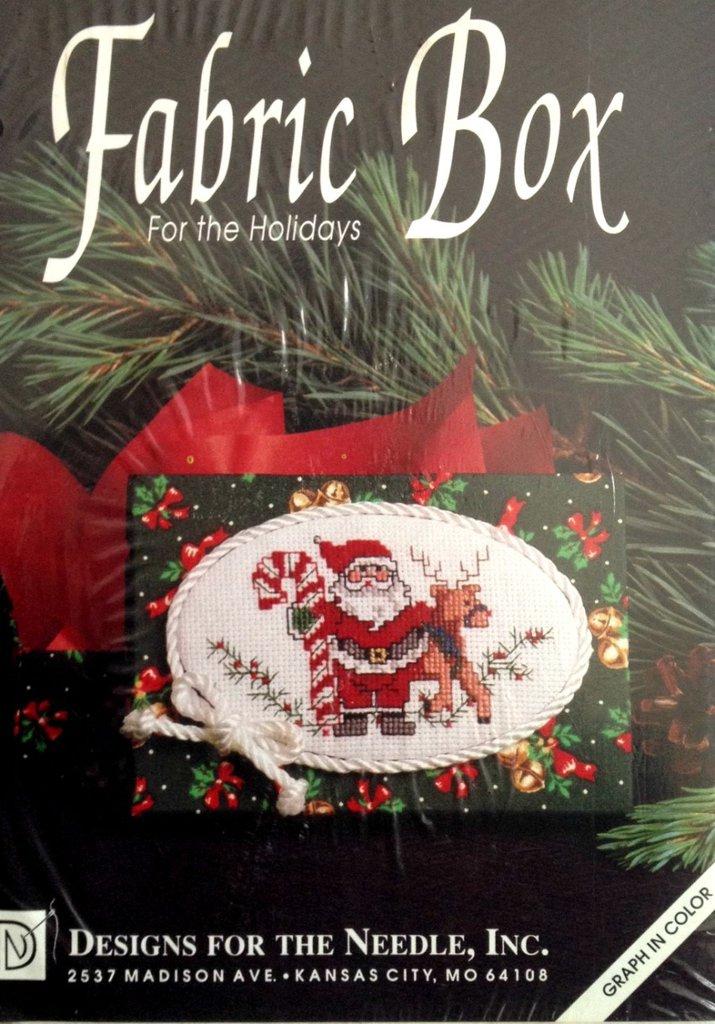 Scatola Babbo Natale - Kit ricamo punto croce
