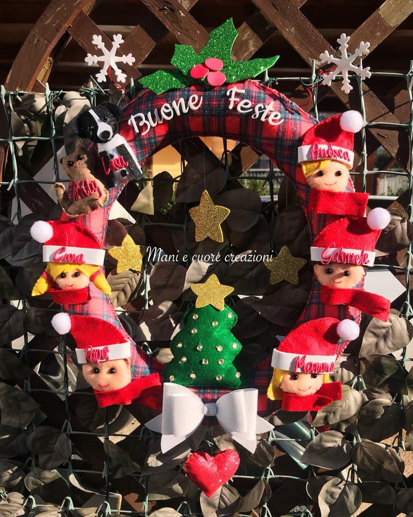 Ghirlanda natalizia -famiglia - scozzese