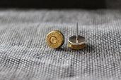 Orecchini artigianali munizione 9x21 con innesco (inerte)