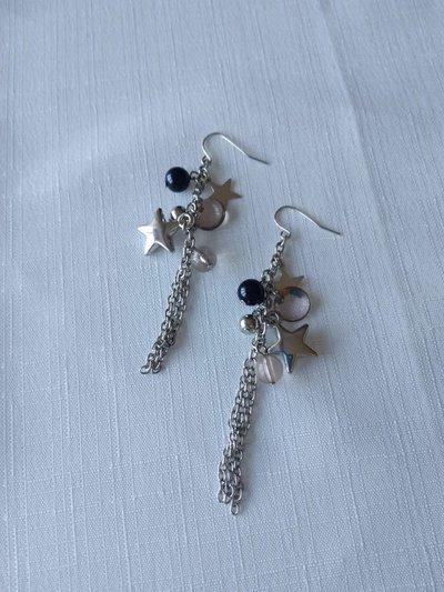 orecchini pendenti con stelline e perline
