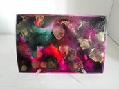 Dipinto nr.3 // Fluid Art con Colori ad Alcool con Base d'Appoggio // Pezzo Unico // Fatto a Mano ❤