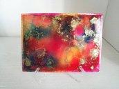 Dipinto nr.4 // Fluid Art con Colori ad Alcool con Base d'Appoggio // Pezzo Unico // Fatto a Mano ❤