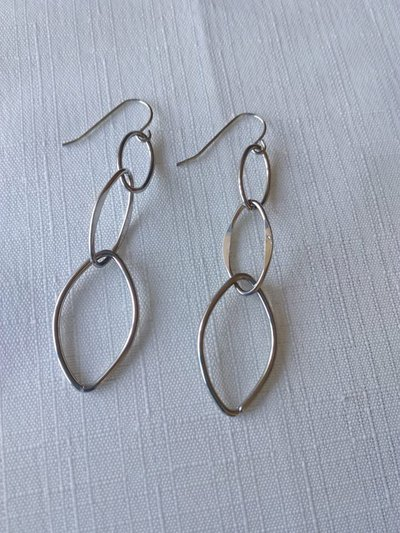 orecchini pendenti colore argento