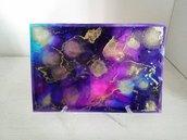 Dipinto nr.5 // Fluid Art con Colori ad Alcool con Base d'Appoggio // Pezzo Unico // Fatto a Mano ❤