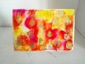 Dipinto nr.6 // Fluid Art con Colori ad Alcool con Base d'Appoggio // Pezzo Unico // Fatto a Mano ❤