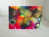 Dipinto nr.7 // Fluid Art con Colori ad Alcool con Base d'Appoggio // Pezzo Unico // Fatto a Mano ❤