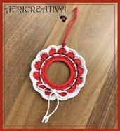 Addobbo natalizio bianco e rosso