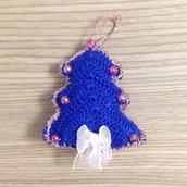 Abete amigurumi decorazione da appendere all'albero di Natale fatto a mano all'uncinetto