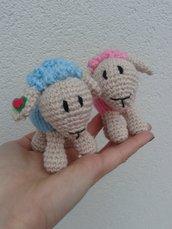 Pecorella all'uncinetto amigurumi