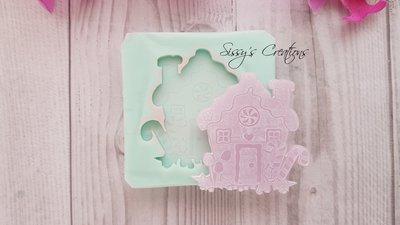 Stampo Decorazione Natalizia, Casa Pan di Zenzero, 4 cm, ideale per Resina e Paste Polimeriche