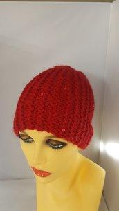 Berretto Perla colore rosso