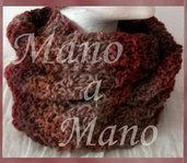 Scaldacollo incrociato - Marrone melange
