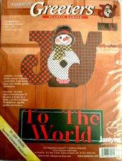 Joy To The World - Kit punto croce su canovaccio di plastica