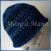 Cappello a cloche - Blu sfumato