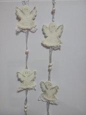 Addobbo natalizio Angeli in feltro fatti a mano
