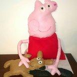 Peppa Pig e orsetto in feltro