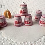 Ciondolo confezione di pandoro  lilla fimo materiale creare bigiotteria accessori bomboniere decorazioni