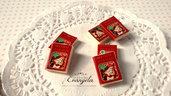 Ciondolo ricettario biscotti natalizi fimo pendenti per realizzare bigiotteria accessori minuteria