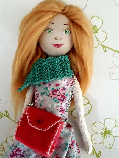 Tusì Doll Bambola di stoffa fatta a mano, Handmade doll made in Italy