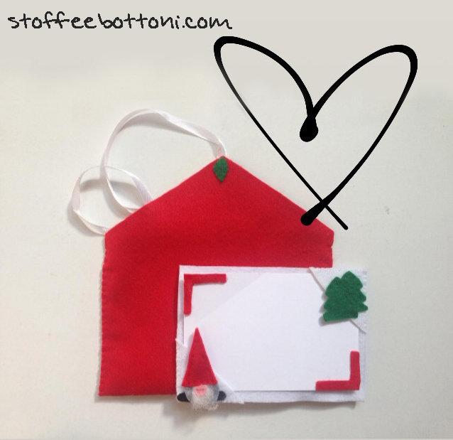 Biglietto d'auguri gnomo e albero di Natale