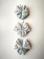 Sacchettini profumati alla Lavanda a forma di Farfalla fantasie Celeste/Beige