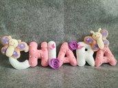 Idea regalo bambini, lettere imbottite e decorate
