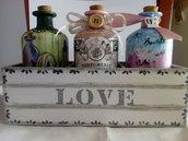Decorazioni per la casa cassettina con bottigliette