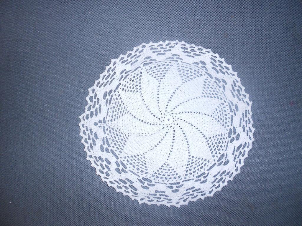Centrino Rotondo Bianco Centrino Classico Bianco Centro Ad Unci
