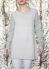 maglione grigio perla fatto a mano-UnicOrn