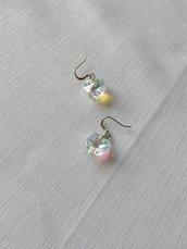 orecchini pendenti imitazione swarovski