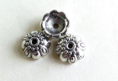 10  capsule per perle in argento tibetano acrilico FER 53