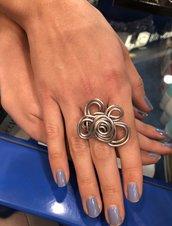Anello acciaio color argento
