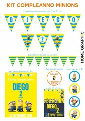 KIT COMPLEANNO MINIONS DIGITALE
