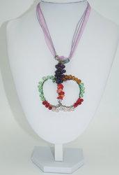 collana wire con cristalli di boemi