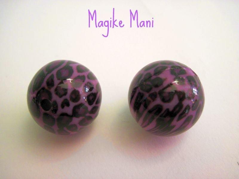 Perle viola leopardate