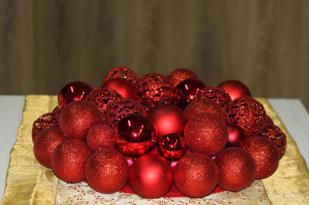 Immagini Di Centrotavola Di Natale.Centrotavola Di Natale In Rosso