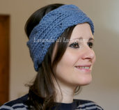 Originale fascia per capelli da donna. Fascia in lana a treccia. Fatta a mano