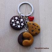 Portachiavi biscotti gocciole abbracci pan di stelle