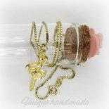 Collana dorata con ballerina
