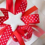 Addobbo Stella di Natale stella Crystal in fimo versione bianca MEDIA