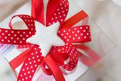 Addobbo Stella di Natale stella Crystal in fimo versione bianca GRANDE