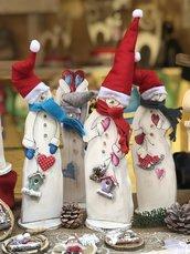 Snowman in legno by Creazioni GiaRó  Ⓒ